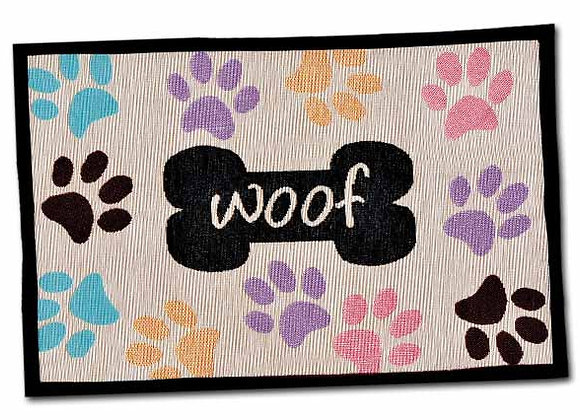 Loving Pets Bella Fashion Dog Mat - Woof x Multi Paws