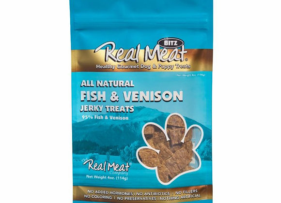 The Real Meat All Natural Fish & Venison Jerky Dog Treats