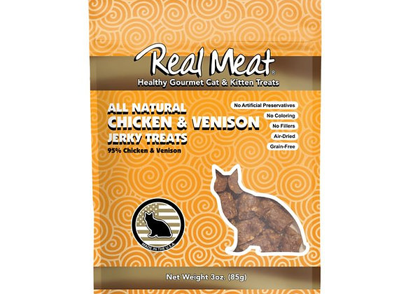 The Real Meat Chicken Venison Cat Treats