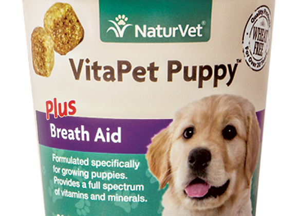 NaturVet VitaPet Puppy™ Plus Breath Aid Soft Chews - 70ct (30 Day Supply)
