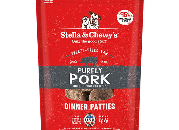 Stella & Chewy's Purely Pork Freeze-Dried Raw Dinner Patties