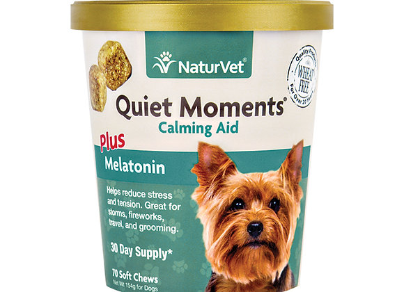 NaturVet Quiet Moments® Calming Aid Plus Melatonin Soft Chews - 70ct (30 Day)