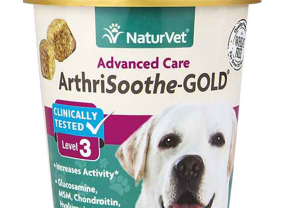 NaturVet Arthrisooth-GOLD Level 3 Soft Chews - 70ct (30 Day Supply)