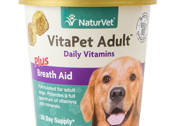 NaturVet VitaPet Adult™ Plus Breath Aid Soft Chews - 70ct (30 Day Supply