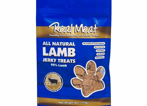 The Real Meat All Natural Lamb Jerky Dog Treats