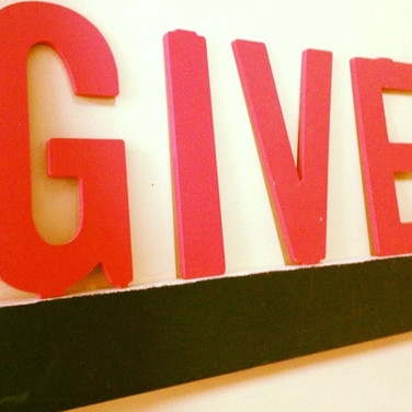 Get to Giving. You'll never regret it.