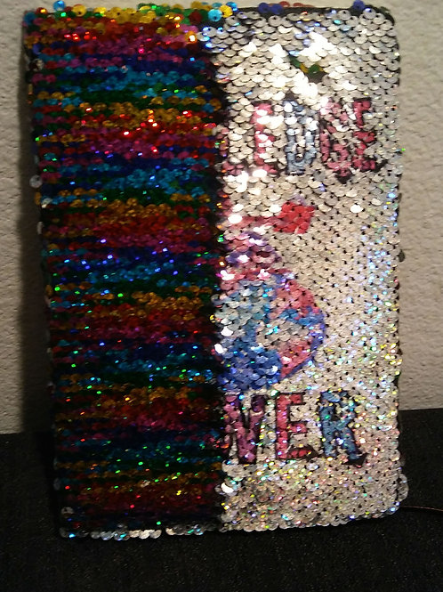 """Sequins Notebook """"Knowledge is Power"""""""