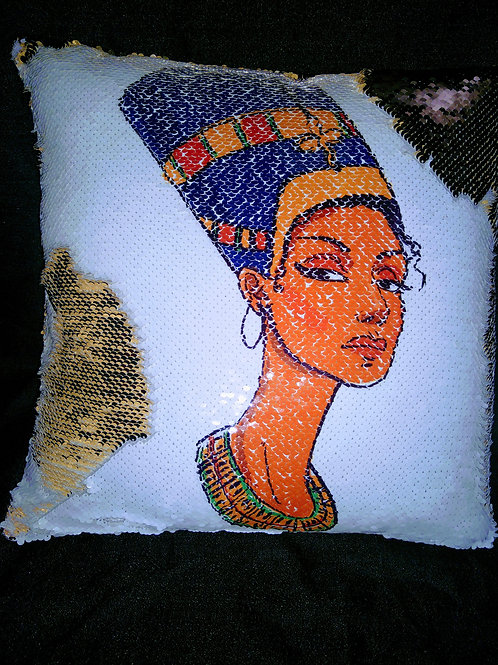 Nefertari sequin pillow