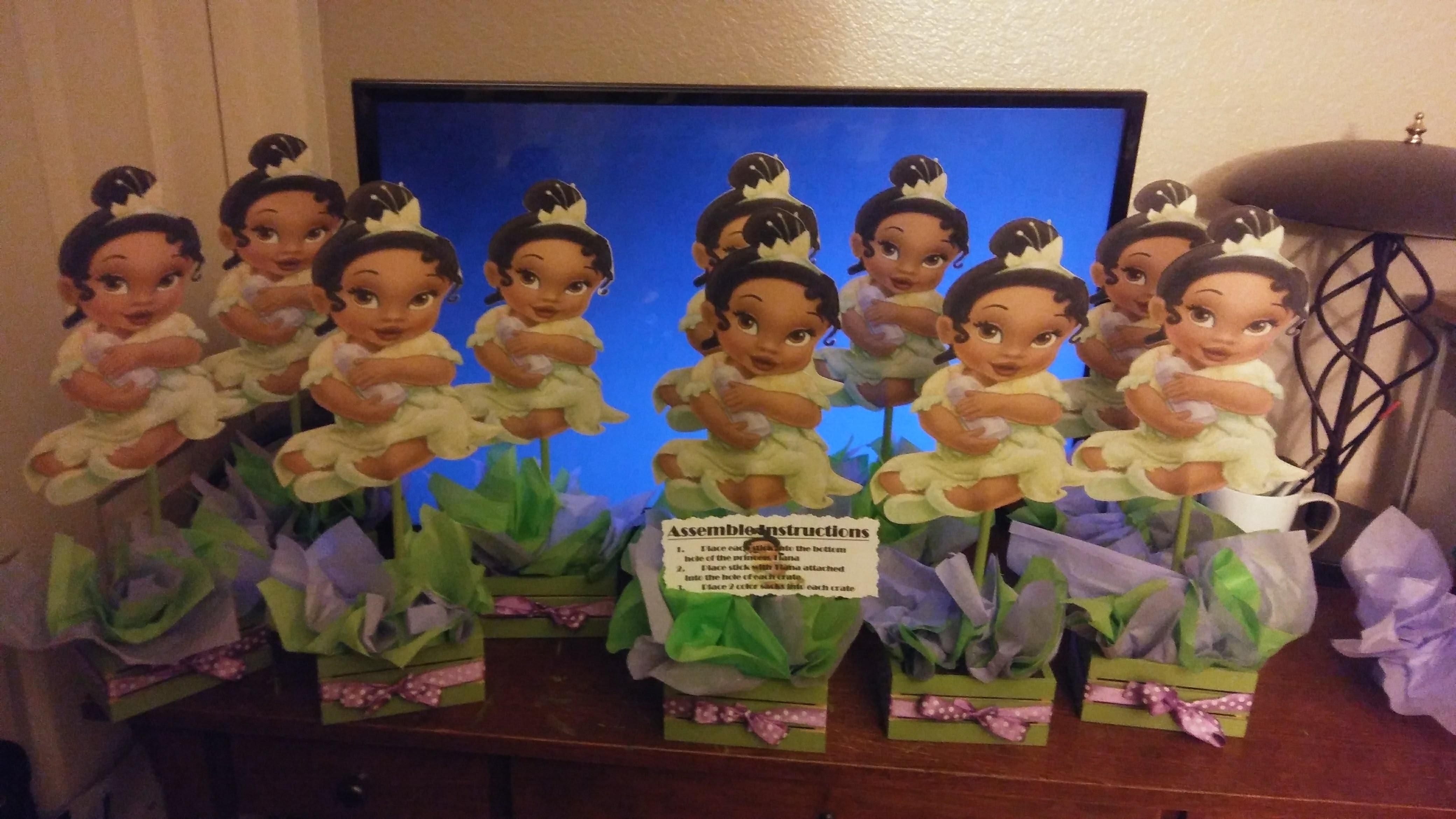 Princess Tiana Centerpieces