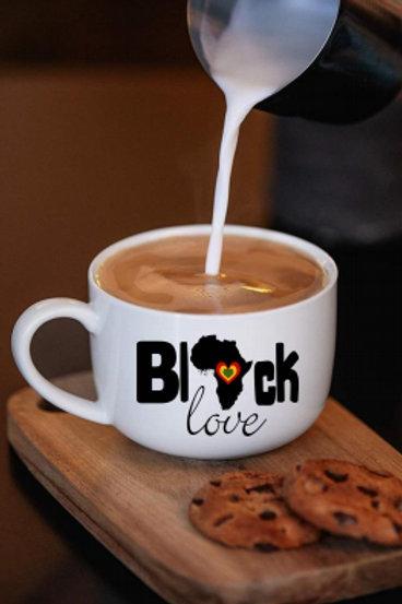 Black Love Coffee Mug