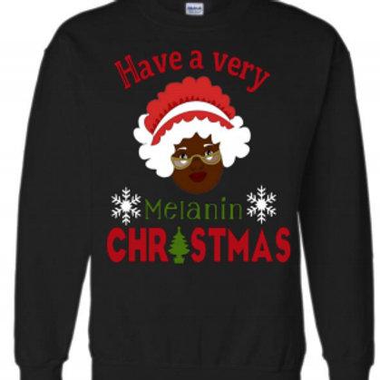 Mrs. Claus Melanin Christmas Sweatshirt