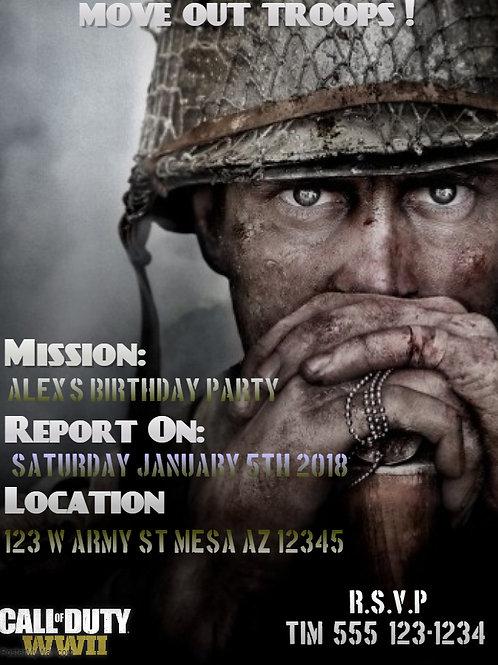 Call of Duty WW2 Invitation