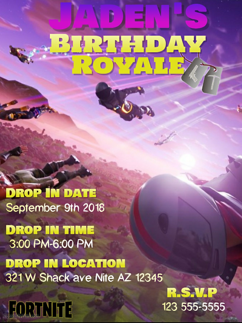 Fortnite Invitations (drop in)