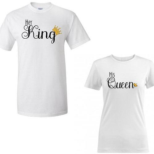 His Queen, Her King shirt set