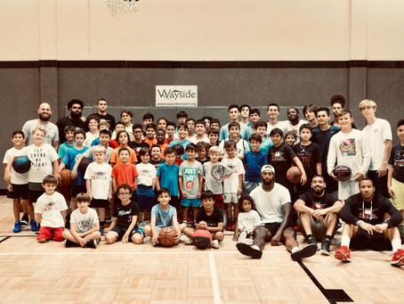 James Johnson from the Miami Heat spends the day at our Camp!