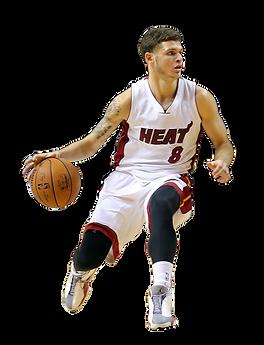 Tyler Johnson plays for Miami Heat