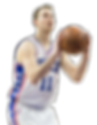 Nik Stauskas plays for Philidelphia 76ers