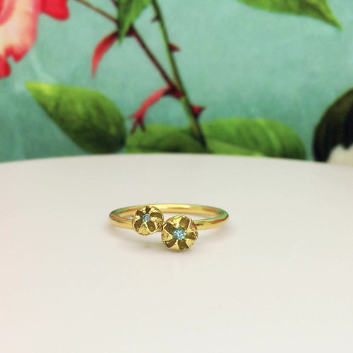 Natural Instinct Twin Diamond Pod Ring
