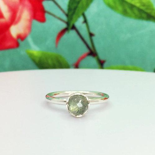 Encapsulated Raindrop & Labradorite Ring