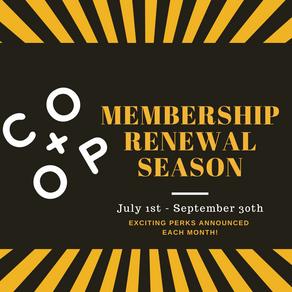 Membership Renewal Season 2021