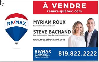 Enseigne Remax standard Steve et Myriam.