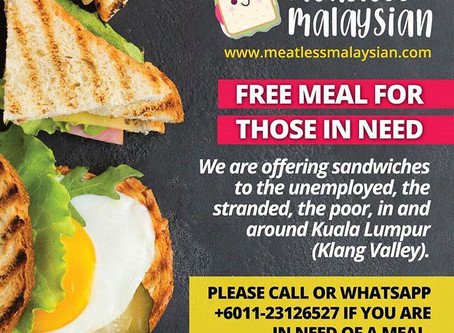 Help feed the hungry with Meatless Malaysian