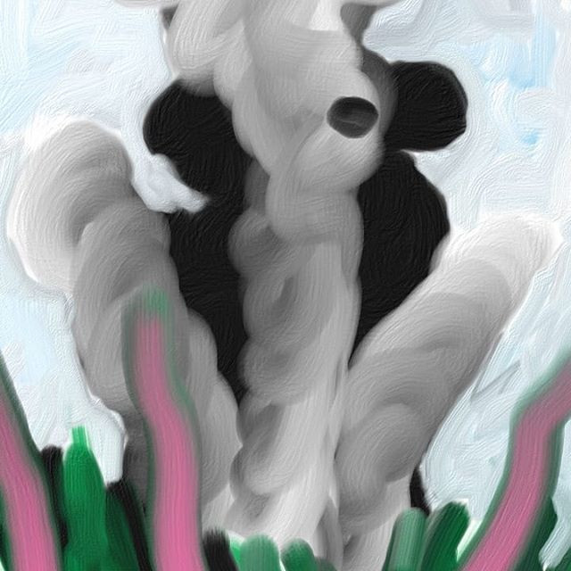 Painting on my phone on lunchbreak at ni