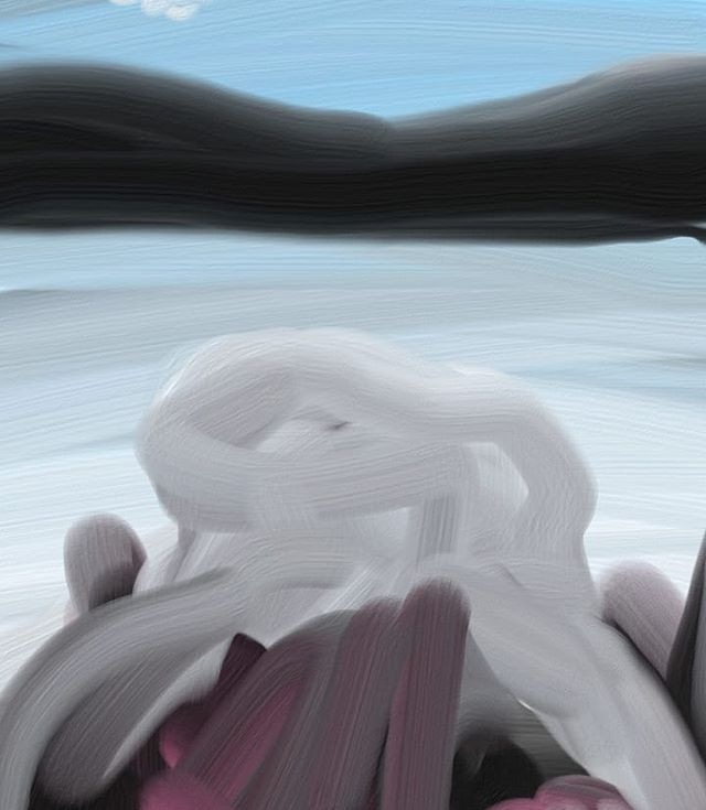 Fingerpainting on phone #drawing #painti