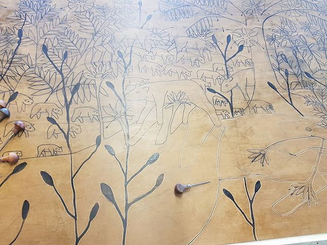 Drawing on mdf 1x3meters #workinprogress