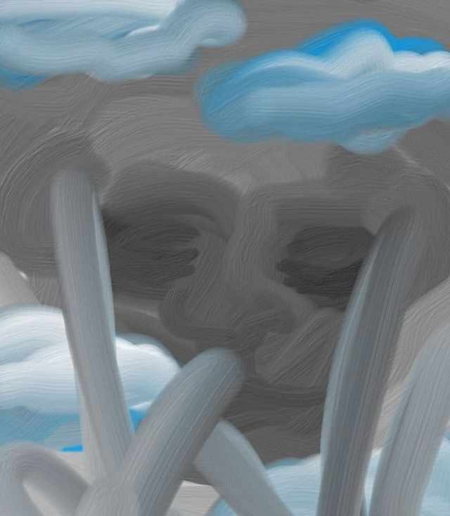 Fingerpainting on phone at night #painti