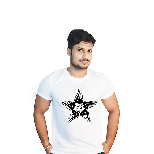 Star Graphic White T Shirt