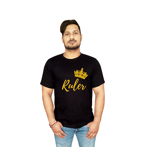 Ruler Graphic White T Shirt