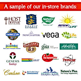 Brands sold at The Natural Way