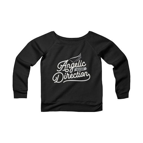 Angelic Divine Direction Women's Sponge Fleece Wide Neck Sweatshirt