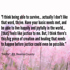 Actualizing Queer Justice Report: Quote from Nettle