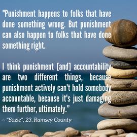 Actualizing Queer Justice Report: Quote from Suzie