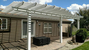 Pergola Following Pavers