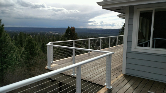 Cable Railing with Elliptical top