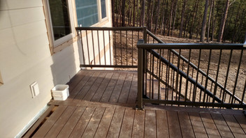 Bronze Flat Top with Picket and Round Top on the stairs