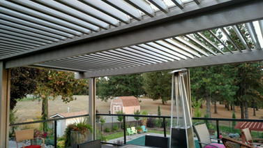 Equinox Louvered System with motorized open and close panels