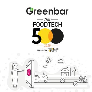 Greenbar стал официальным победителем всемирного рейтинга FoodTech 500 в этом 2020 году!