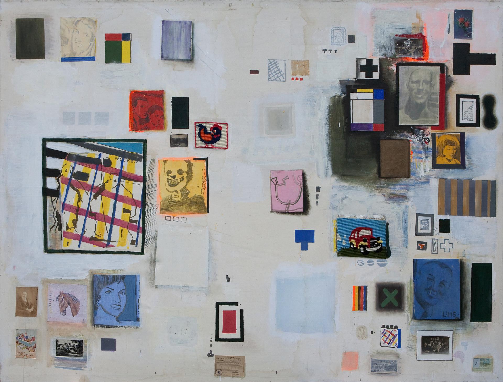 Collage mit Stickbildern