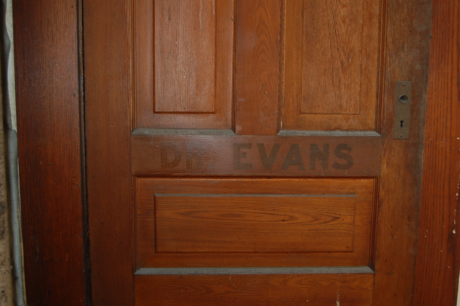 Before: Dr. Evans Door