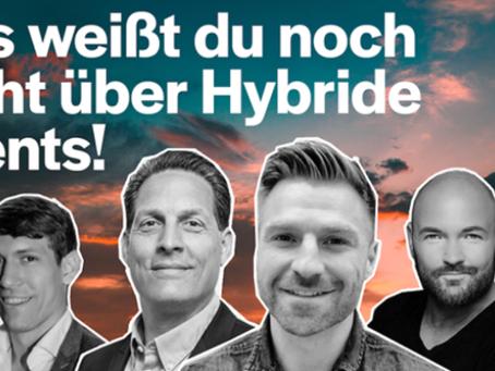 Das weißt du noch nicht über hybride Events! 4 Event- und TV Profis geben dir einen Einblick.