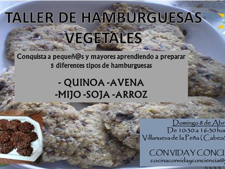 TALLER DE HAMBURGUESAS VEGETALES...ricas, sanas, eco y nutritivas