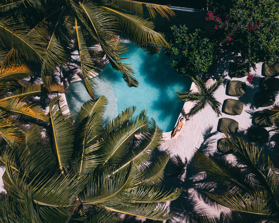 Swimming Pool on Tulum Beach
