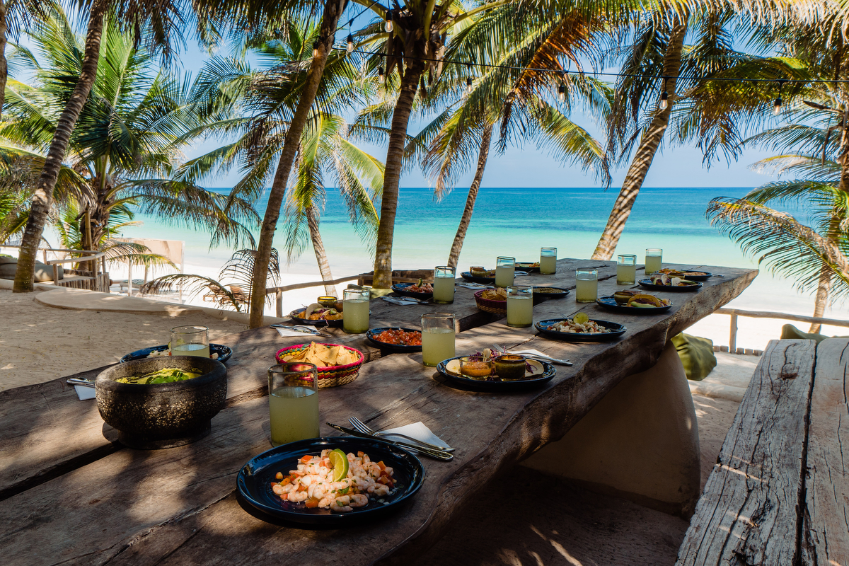 Best lunch view in Tulum