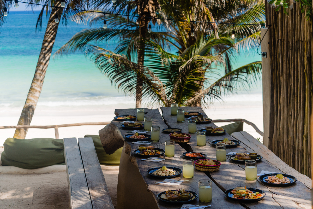 Lunch by the sea at Zorba Tulum