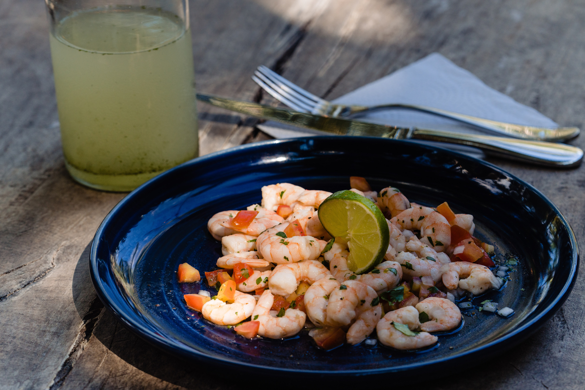Prawns with lime and garlic