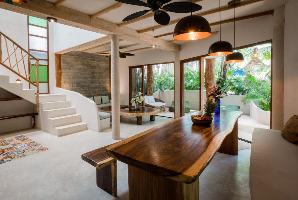 Open Living Area of 3BR Zorba Villa 4